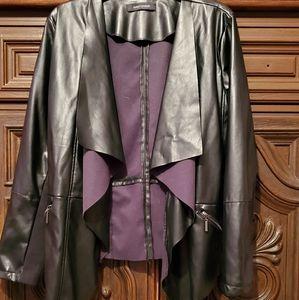 Black leather like jacket